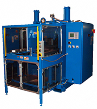 automatic hydraulic press with multi-plate insert molding process