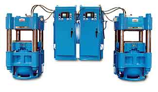 column hydraulic presses for sporting good applicatiions