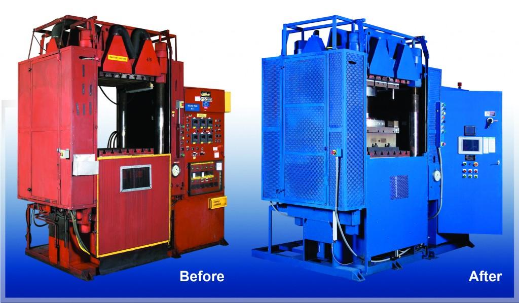 400-ton hydraulic press rebuild