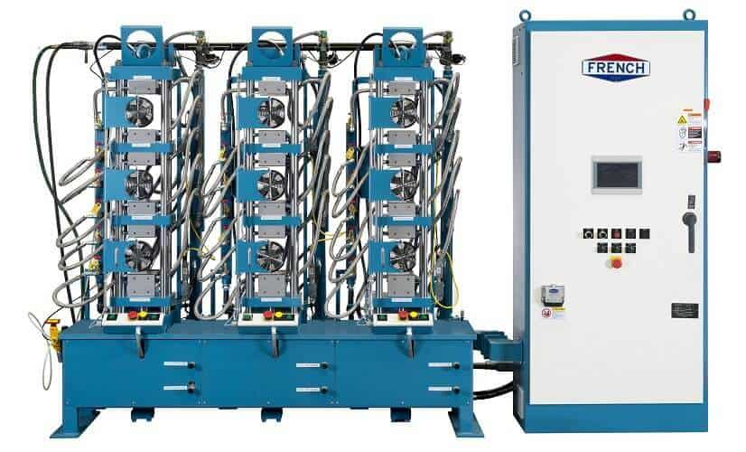 three press hydraulic system
